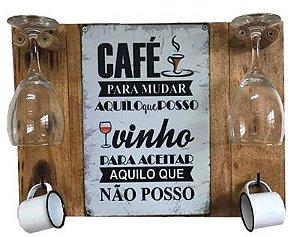 Painel para café e taças