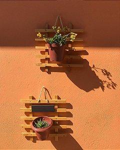 Painel de palete com sisal para plantas