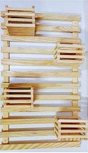Treliça painel de madeira pinus 100x60