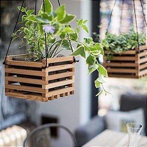 Caixote hanger para Vaso ripado para plantas