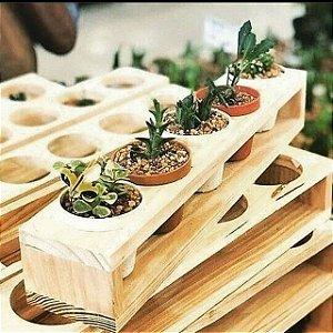 Caixote para 5 Vasos para plantas