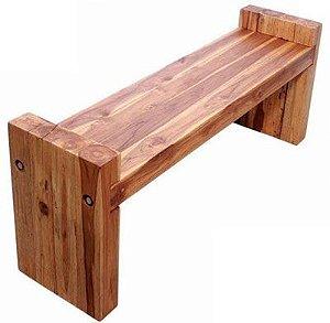 Banco Cambará em madeira maciça com apoio lateral