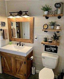 Espelho espelheira em madeira pinus - diversos formatos
