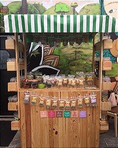 Barraca de feira de madeira festa junina, corporativo, gastronomia / evento ao ar livre / pic nic