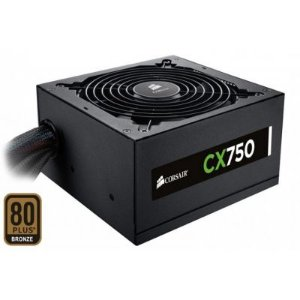Fonte Corsair 750W 80 Plus Bronze CX750 CP-9020015-WW