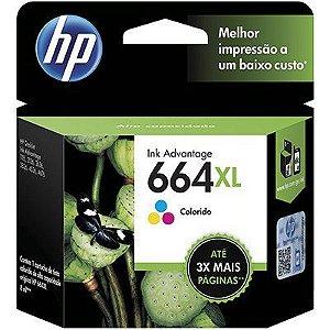 Cartucho HP 664XL Colorido Original (F6V30AB)