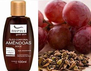 Óleo de amêndoa - Semente de Uva & Colágeno  para Estrias 100 ml