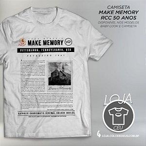 Camiseta Make Memory RCC 50 Anos