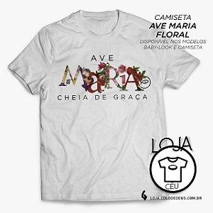 Camiseta Ave Maria Floral