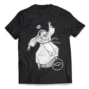 Camiseta Padre Pio - Dançando