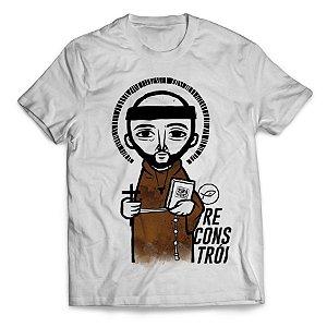 Camiseta São Francisco de Assis - Reconstrói