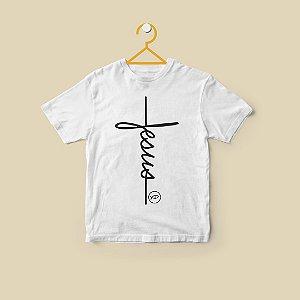 Camiseta Infantil Jesus Lettering