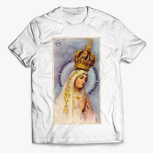 Camiseta Rosário e Nossa Senhora de Fátima