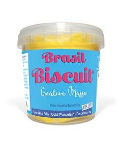 Massa Brasil Biscuit - 250 gramas Amarelo Ouro
