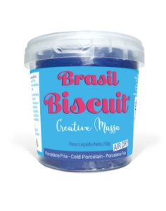 Massa Brasil Biscuit - 250 gramas Azul