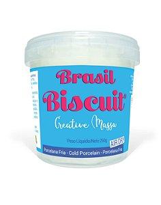 Massa Brasil Biscuit - 250 gramas Branco