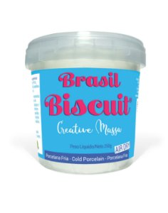 Massa Brasil Biscuit - 250 gramas Natural