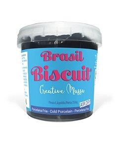 Massa Brasil Biscuit - 250 gramas Preto