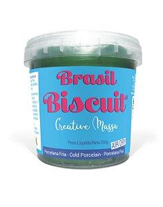 Massa Brasil Biscuit - 250 gramas Verde