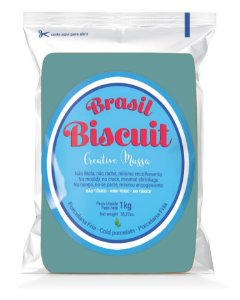 Massa Brasil Biscuit - 1K. azul turquesa
