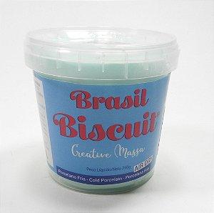 Massa Brasil Biscuit - 250 gramas Verde bebê