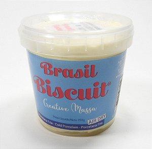 Massa Brasil Biscuit - 250 gramas Amarelo bebê
