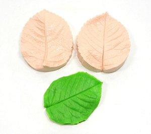 440 - Folha de rosa 3D