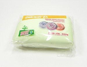 MASSA INKWAY - verde bebê - 400 gr.
