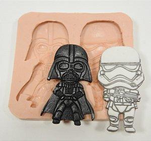 488 - Darth Vader e Troopers p/ ímãs
