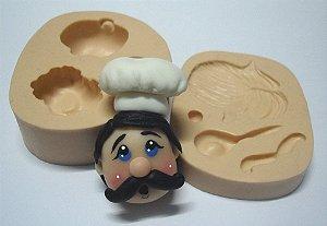 840 - Rosto de cozinheiro 3D