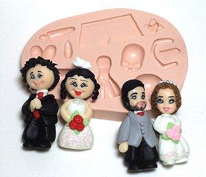 626 - Noivos médios 3D
