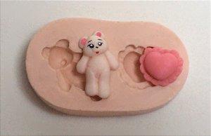 310 - Urso e almofada mini