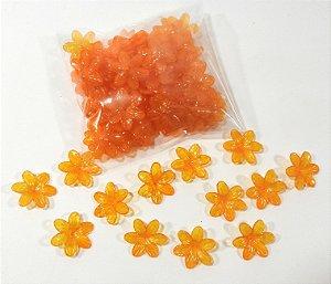 Flores de plástico laranja claro - pacote com 50 gr.