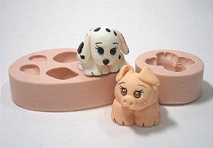 640 - Cachorro e Porco
