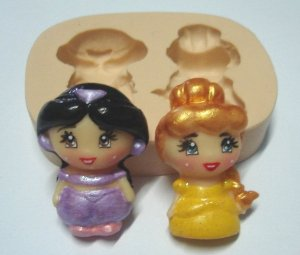 800 - Princesas meninas Bela e Jamine