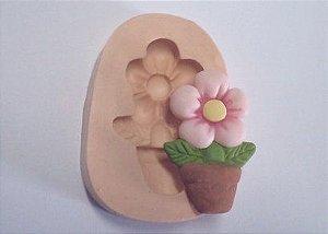 866 - Flor com vaso média
