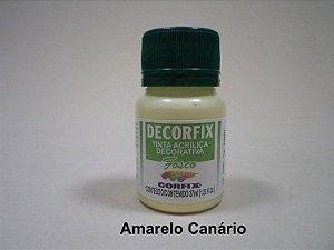 Tinta Acrílica DECORFIX - Fosca - 37 ml. - Amarelo Canário