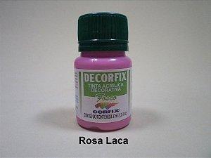 Tinta Acrílica DECORFIX - Fosca - 37 ml. - Laca Rosa