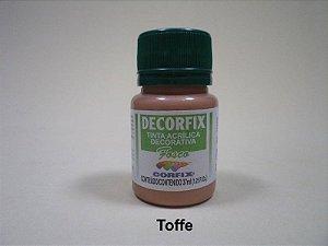 Tinta Acrílica DECORFIX - Fosca - 37 ml. - Toffe