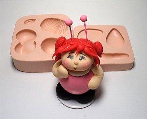 722 - Borboleta Menina 3D