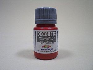 Tinta Acrílica DECORFIX - Brilhante- 37 ml. - Vermelho Escarlate