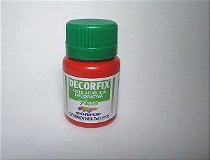 Tinta Acrílica DECORFIX - Fosca - 37 ml. - Vermelho Tomate