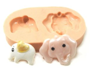 552 - 2 Elefantinhos minis