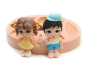 565 - Menino e menina para apliques