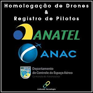 Homologação de Drone + Registro Piloto + Impressões (Documentação Completa)