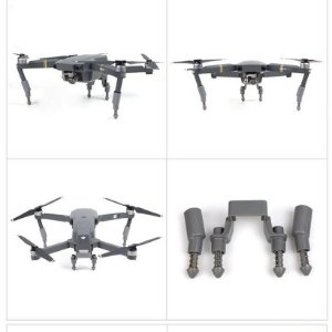 Trem de Pouso Cinza para Drone DJI Mavic Pro