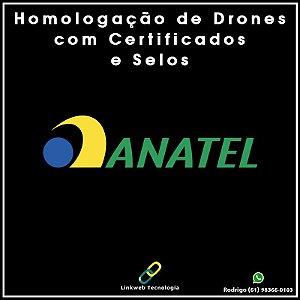Homologação de Drones na ANATEL + Selos + Certificado Impresso