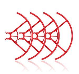 Par de Protetor de Hélices Vermelho para Drone DJI Ryze Tello