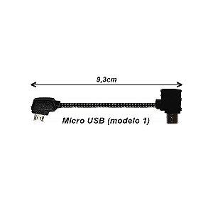 Cabo OTG Micro USB - Micro USB 1 para Drone DJI Mavic, Spark