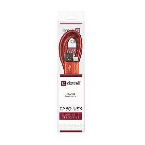 Cabo USB DC-1070 IPH6 (Vermelho)                          1,0mt